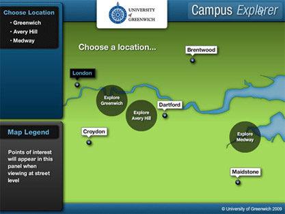 Greenwich Campus Explorer